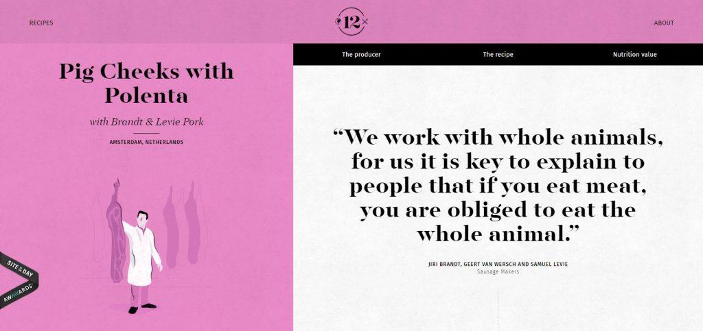 pink and black website color design